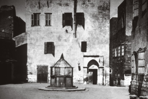 Historical photo of the House of 'Abbúd in 'Akká (Acre), Israel.