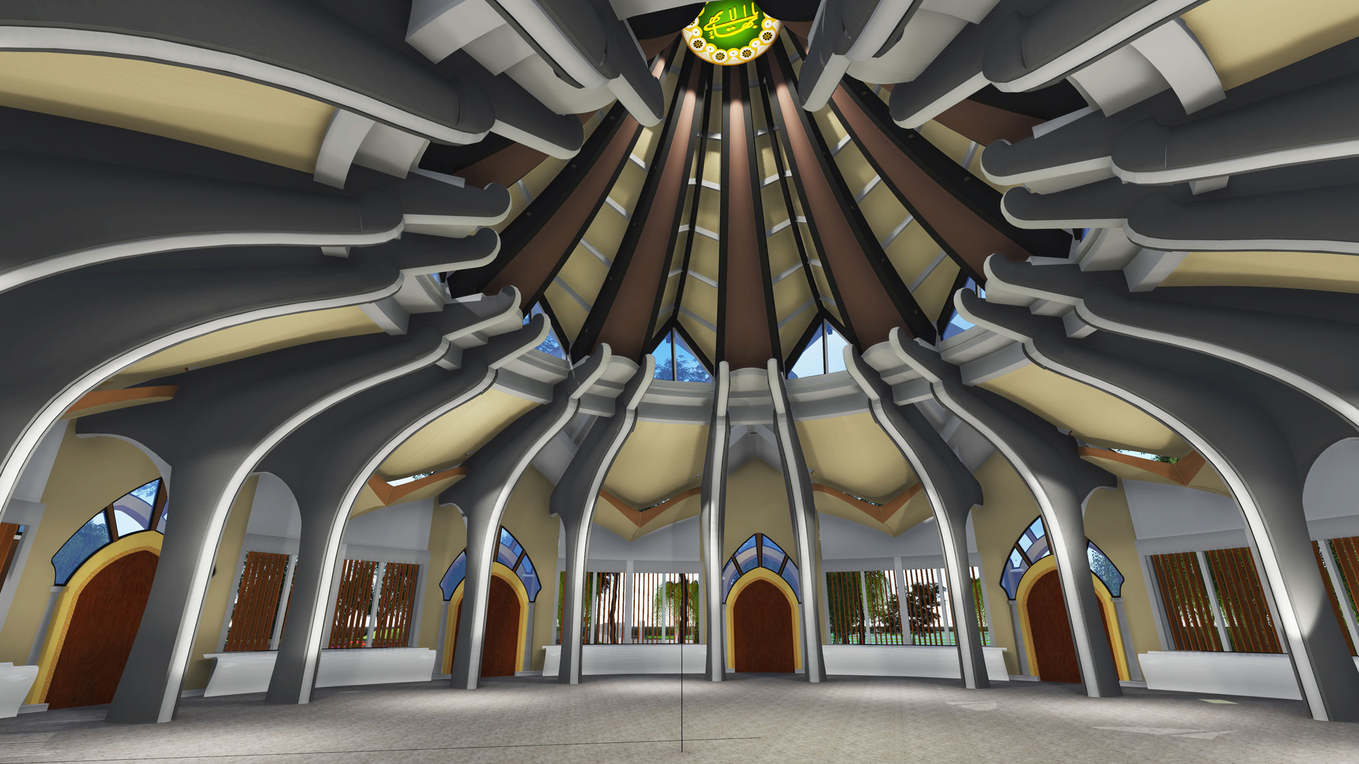 Baha i house of worship in battambang cambodia the for Temple inside home designs